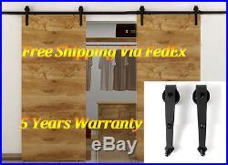 6-16 FT Rustic Double Arrow Sliding Barn Door Hardware Kit Garage Wall Mount