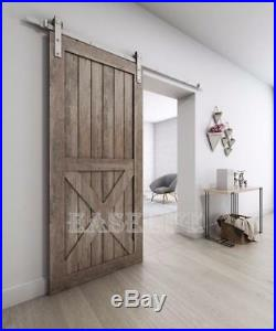 6.6FT/8FT/10FT Mordern Nickel Gray Surface Sliding Barn Door Hardware Kit