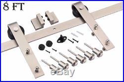 6.6FT/8FT/10FT Mordern Nickel Gray Surface Sliding Barn Door Hardware Track Kit