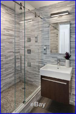 6.6FT Frameless sliding glass shower door track barn shower door hardware kit