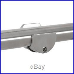 6.6FT Modern Stainless Steel Interior Sliding Barn Wood Door Track Hardware Only