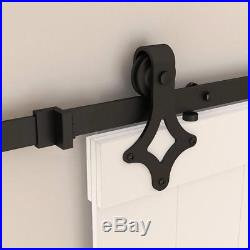 6.6FT Single sliding barn door hardware kit Closet Living room Interior Cabinet