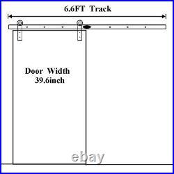 6.6FT Wood Sliding Barn Door Hardware Track Rail Kit