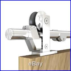 6.6Ft Sliding Stainless Steel Barn Door Hardware Modern Track Closet Kit Set