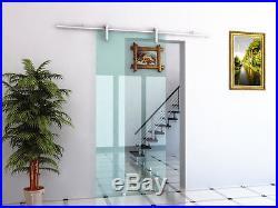 6/6.6ft sliding barn glass door hardware glass door hanging sliding track kit