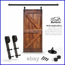 6.6 FT K Style Barn Door DIY Solid Interior Sliding Door withhardware Kit 36x 84