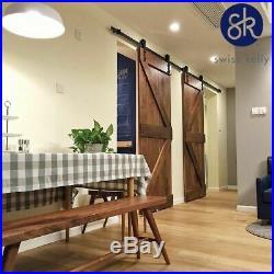 6'6 Sliding Barn Door Track Barn Door Hardware Rail System Set 240lb Capacity