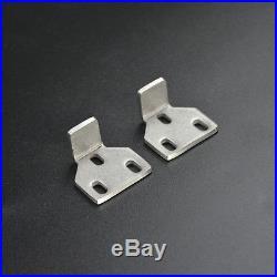 6.6ft Brushed Nickel Two-Side Soft Closing Sliding Barn Wood Door Hardware Kit