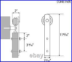 6.6ft Sliding Barn Door Hardware Kit Smoothly and Quietly Wide Door Panel 36-40