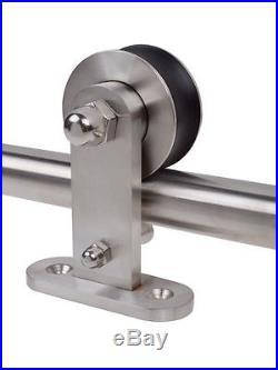 6.6ft Stainless Steel Sliding Home Barn Door Hardware Closet Rail Track Set Kit