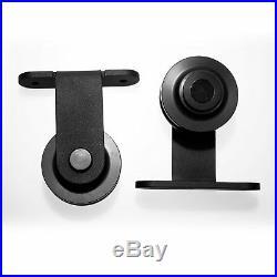 6-9.6FT Track Rollers for Sliding Barn Door Hardware Kit for Interior Wood Door