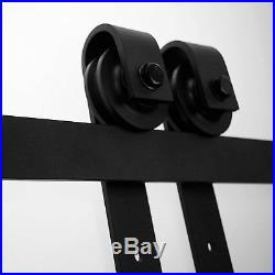 6 FT Rollers Country Style Wood Sliding Barn Door Hardware Track Kit Closet Set