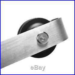 6 FT Stainless Steel Sliding Barn Wood Door Closet Hardware Set Track Kit