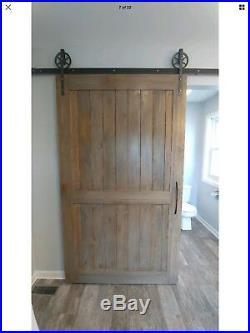 6 Feet Vintage Sliding Barn Wood Door Hardware Kit Track