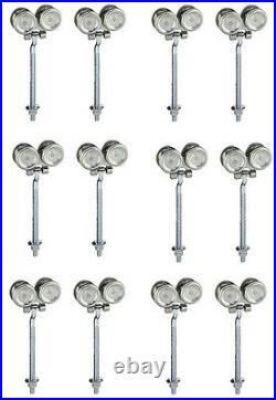 (6) Stanley N174-268 5220 2 pack Zinc Box Rail Barn Door Trolley Hangers Rollers