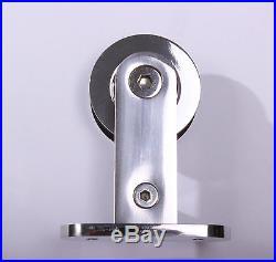 78.7 Stainless Steel 304 Sliding Barn Wood Door Hardware, Mirror (Polished)