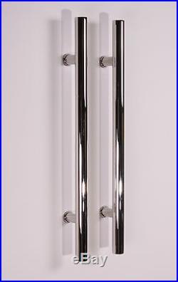 78.7 Stainless Steel 304 Sliding Barn Wood Door Hardware with18 Handle, Mirror