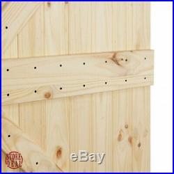 7Ft Sliding Door Hardware Barn Natural Knotty Pine Sturdy Indoor Outdoor BELLEZE