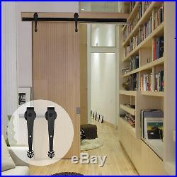 7.5FT Track Wood Sliding Barn Door Hardware Hangers Kit for Single Garage Door