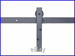 800 LB Commercial Outdoor Heavy Duty Black Steel Sliding Hardware Kit Barn Door