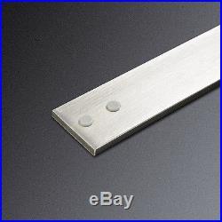 8FT Brushed Nickel One piece Bypass Sliding Barn Door Hardware