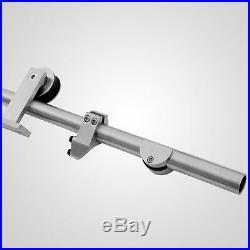 8FT Sliding Barn Double Door Hardware Closet Track Kit 304 Stainless Steel
