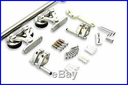 8-16FT Top mounted dual head stainless steel sliding barn door hardware track