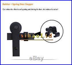 8-20FT Bypass Sliding Barn Door Hardware Track Black Rustic Bypass Hardware Set