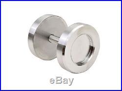 8 FT Satin Stainless Steel Moden Double Sliding Barn Wooden Door Hardware Track
