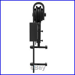 8 FT Sliding Barn Door Hardware Roller Track Rail Kit Closet Country Style G4K8