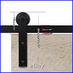 8ft/10ft/14ft/19ft Bypass Barn Wood Door Hardware Closet Sliding Kit for 4 Doors
