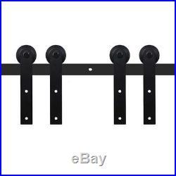 9FT Double Sliding Barn Door Hardware Hangers Kit for Interior Cabinet Door