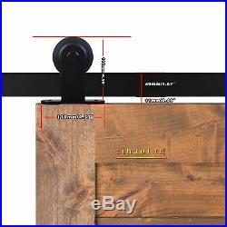 9FT Sliding Barn Wood Door Hardware Track Kit For Double Door, High Quality