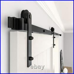 9.6/6.6/6FT Sliding Barn Door Hardware Kit Closet Track Set for Single Wood Door