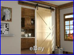 9 FT Single Sliding Barn Door Hardware Carrier Closet Kit Indoor Outdoor Arrow