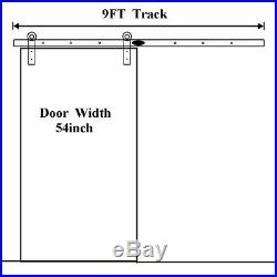 9 FT Sliding Wood Barn Door Hardware Kit and Sliding Wood Gate Door Handle Set