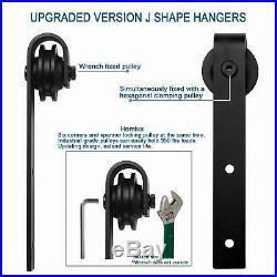9ft Heavy Duty Double Door Sliding Barn Door Hardware Track Rail Roller Kit Set