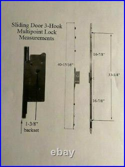 ASHLAND HARDWARE XM 65 Narrow Multi Point Mortised sliding door Lock