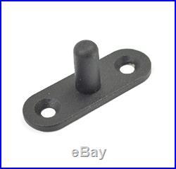 AiHom 195cm Rustic Black Sliding Doors Barn Door Hardware Cabinet Wood Sliding