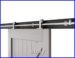 AiHom 2.44m Stainless Steel Sliding Door Barn Hardware Track Sliding Kit Wooden