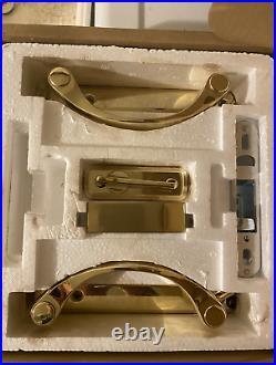 Andersen Newbury 2-Panel Gliding Door Hardware Set in Bright Brass