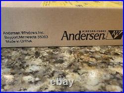 Andersen Newbury 2-Panel Gliding Door Hardware Set in Bright Brass Used