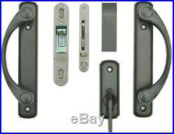 Andersen Sliding Door Lock Hardware Set 2-Panel Forged Brass Oil Rubbed Bronze