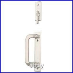 Andersen Sliding Door Locks 2-Panel Gliding Patio Door Hardware Set Satin Nickel