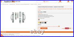 Andersen Sliding Patio Door Hardware Set Newbury Style in Satin Nickel Finish