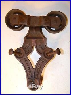 Antique ALLITH PROUTY Sliding Barn Door Hardware Hanger Rollers Pat'd Aug 5 1915