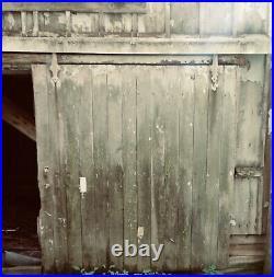 Antique Original Barn Sliding Door, Roller Hardware & Track