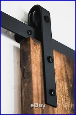 Antique Rustic Steel Sliding Track Wood Barn Door Closet Hardware Kit Interior