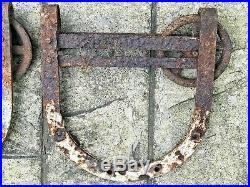 Antique Sliding Barn Door Hardware Horse Shoe Rollers Large 13 Inch