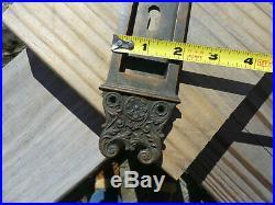 Antique Victorian Sliding Pocket Door Hardware by Newton 4 pieces